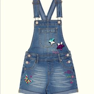 Jordache 🆕 Rolled Cuff Embellished Overall Short